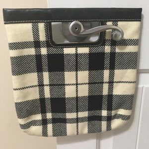 Banana Republic Wool Cream/Black Plaid Clutch! 💥